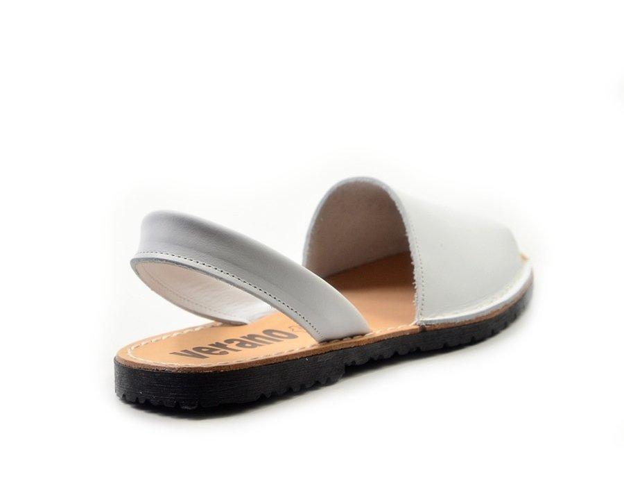 eba1e841d8b54 Sandały 35 skórzane VERANO 201 białe klapki