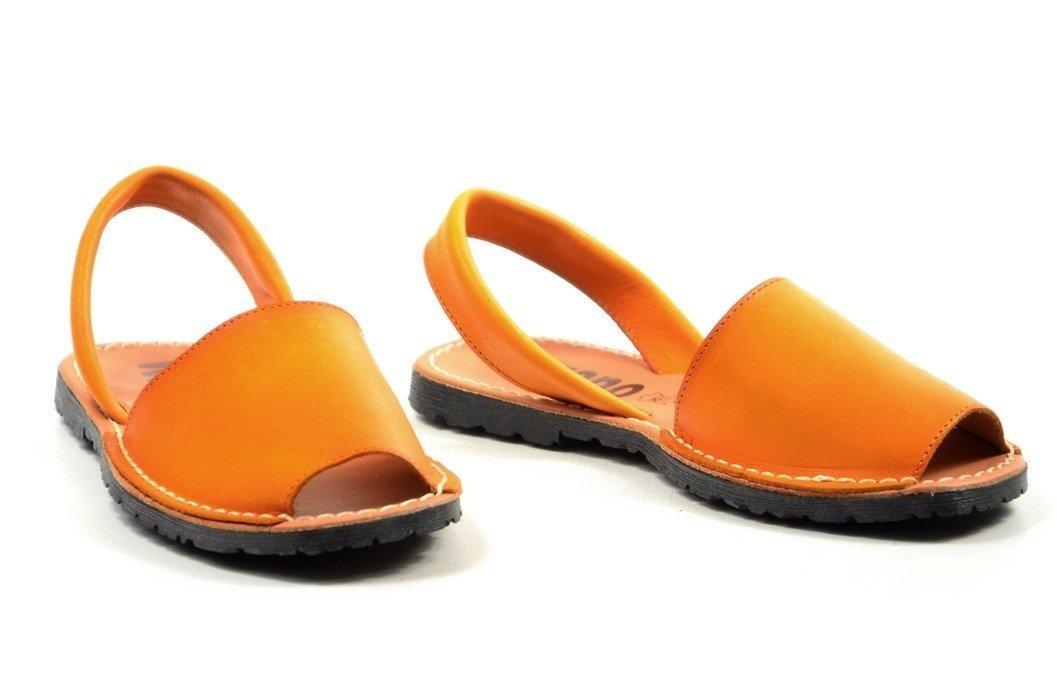 cf0c8f16b1132 Sandały 41 skórzane VERANO 201 miodowe pomarańczowe mango klapki