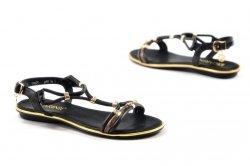 Sandałki 37 Carinii B4997 skóra czarne