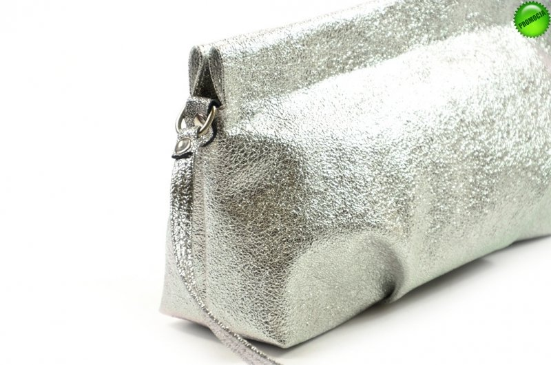 TOREBKA kopertówka LAURA BIAGGI wizytowa srebrna metaliczna