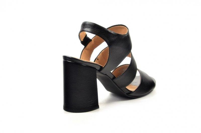 Sandałki 39 słupek ROBSON skóra 2258 czarne