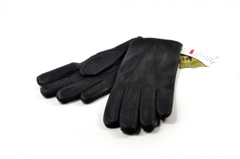 Rękawiczki męskie skórzane czarne XL