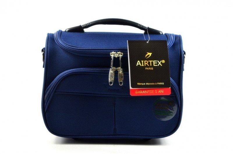 TOREBKA podróżna AIRTEX kuferek granatowa bagaż podręczny