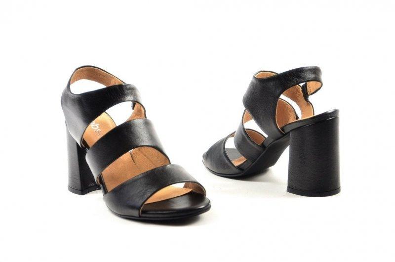 Sandałki 40 słupek ROBSON skóra 2258 czarne