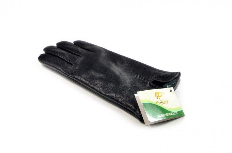 Rękawiczki damskie SKÓRA 8,5 czarne