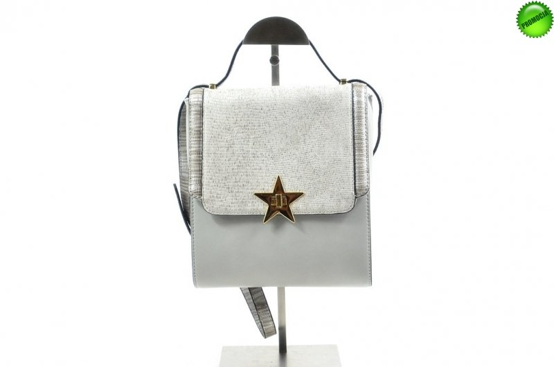 TOREBKA damska MONNARI BAG 4320 szara srebrna listonoszka