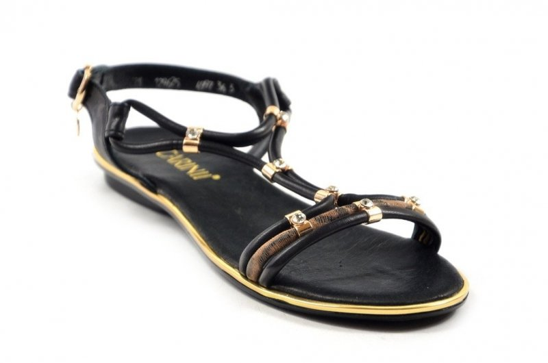 Sandałki 40 Carinii B4997 skóra czarne