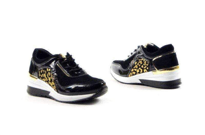 Półbuty 37 sneakersy VINCEZA 7778 skóra czarne