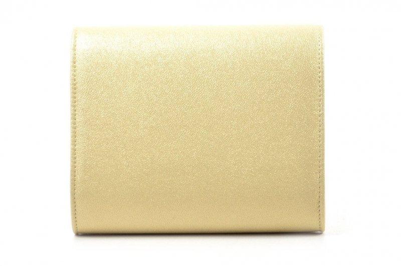 TOREBKA kopertówka LAURA BIAGGI wizytowa złota błyszcząca
