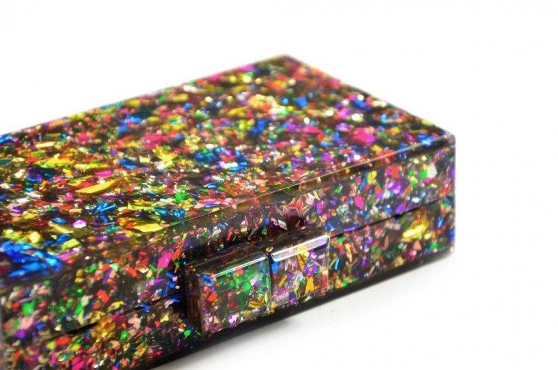 TOREBKA kopertówka wizytowa TOM EVA multi kolor