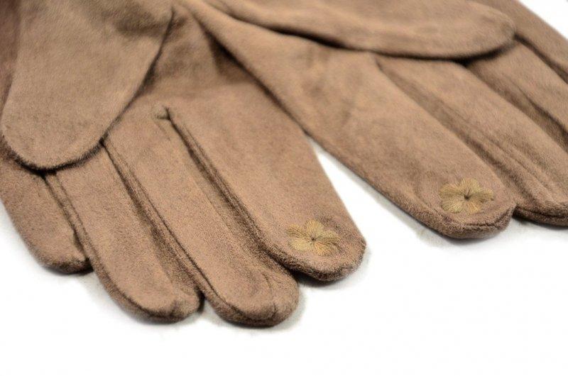Rękawiczki damskie PRIUS beżowe dotykowe smartfon