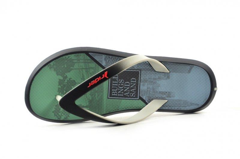 Klapki męskie 47 RIDER 82731 szare czarne zielone