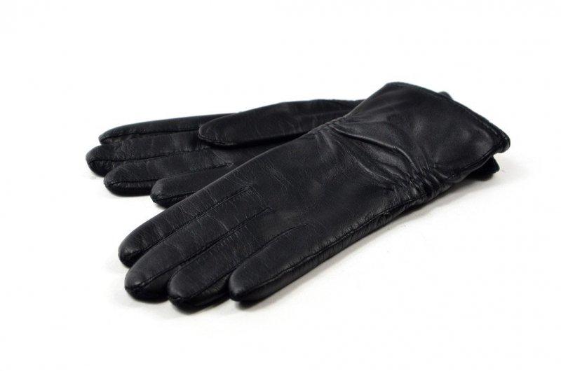 Rękawiczki damskie skórzane czarne XL