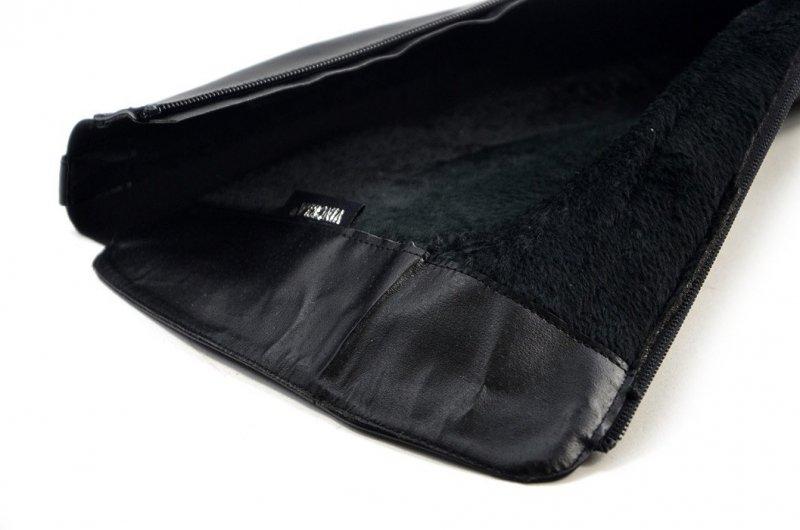 Kozaki damskie 38 VINCEZA 16031 czarne klasyczne