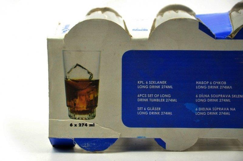 Komplet 6 szklanek long drink 274ml DAY BY DAY