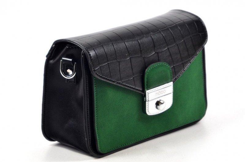 TOREBKA damska NOBO BAG 0530 czarna zielona listonoszka