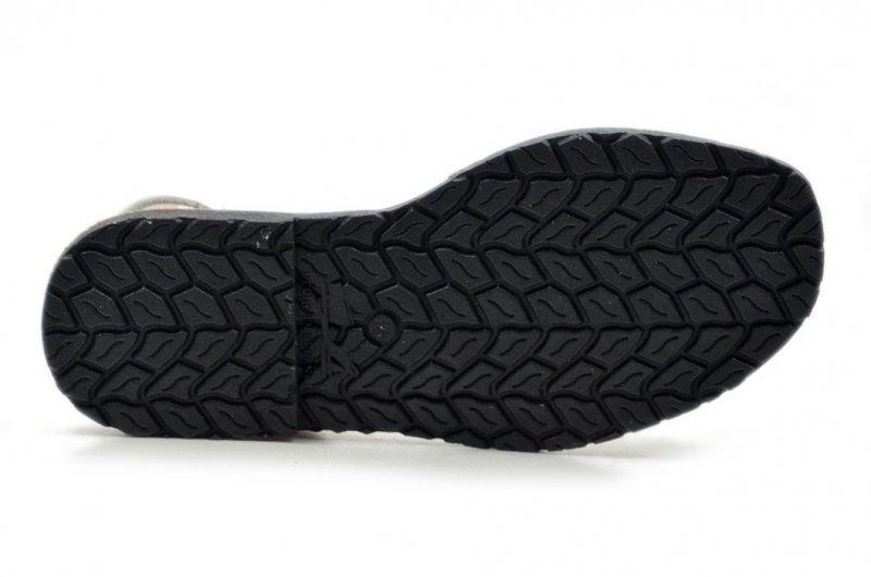 Sandały 40 skórzane VERANO 287 białe srebrne klapki