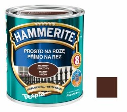 Hammerite Na Rdzę 0,7L BRĄZOWY MAT hamerite farba