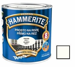 Hammerite Na Rdzę 0,25L BIAŁY POŁYSK hamerite farba biała