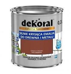 Dekoral Olejna 0,2L ORZECH ŚREDNI emakol alkidowa emalia strong