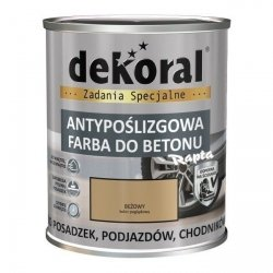 Dekoral Do Betonu 0,75L BEŻOWY Akrylit B Antypoślizgowa Farba