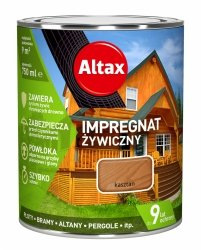 Altax Impregnat 0,75L KASZTAN Żywiczny Drewna Szybkoschnący