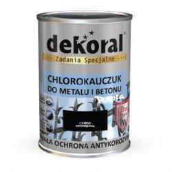 Dekoral Chlorokauczuk 10L CZARNY RAL9005 farba emalia