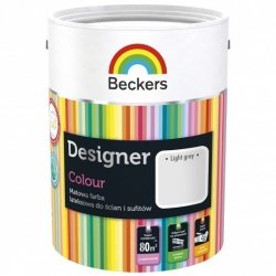 Beckers 5L LIGHT GREY Designer Colour farba lateksowa