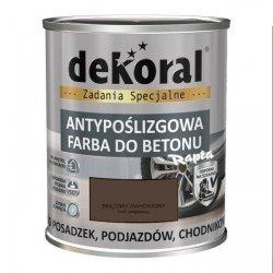 Dekoral Do Betonu 0,75L BRĄZOWY MAHONIOWY Akrylit B Antypoślizgowa Farba