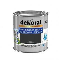 Dekoral Olejna 0,2L CZARNY emakol alkidowa emalia strong