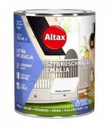Altax Emalia Szybkoschnąca Biały PÓŁMAT 0,75L akrylowa wodna do drewna metalu