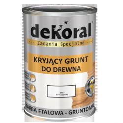 Dekoral Gruntomal Grunt do Drewna 0,9L podkład biały farba