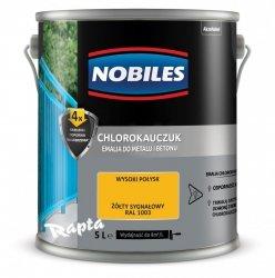 Chlorokauczuk 5L ŻÓŁTY SYGNAŁOWY RAL 1003 Nobiles farba emalia