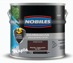 Chlorokauczuk 10L BRĄZOWY CZEKOLADOWY RAL 8017 Nobiles farba emalia