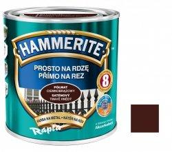 Hammerite Na Rdzę 2,5L CIEMNOBRĄZOWY PÓŁMAT hamerite farba