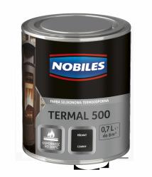 Nobiles Termal 500 CZARNY 0,7L termoodporna farba silikonowa PÓŁMAT