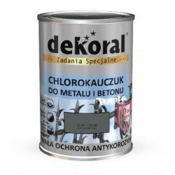 Dekoral Chlorokauczuk 0,9L SZARY ŚREDNI RAL7010 farba emalia