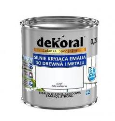 Dekoral Olejna 0,2L BIAŁY emakol alkidowa emalia strong