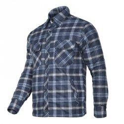 LAHTI PRO Koszula zimowa ocieplana flanelowa L robocza granatowo-niebieska
