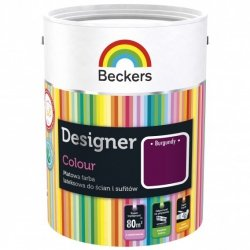 Beckers 2,5L BURGUNDY Designer Colour farba lateksowa