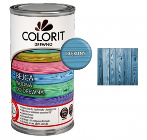 Colorit Bejca Wodna Drewna 0,5L BŁĘKITNY 500ml do