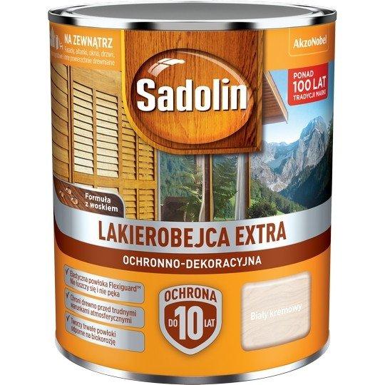 Sadolin Extra lakierobejca 0,75L BIAŁY KREMOWY 99 drewna