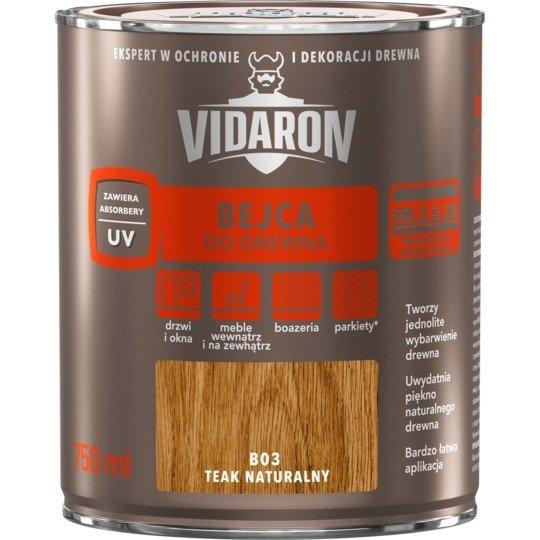 Vidaron Bejca 0,75L B03 TEAK NATURALNY do drewna