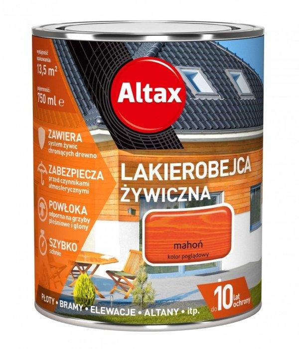 Altax Lakierobejca 0,75L MAHOŃ Żywiczna Drewna Szybkoschnąca