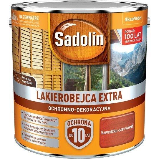 Sadolin Extra lakierobejca 2,5L CZERWIEŃ SZWEDZKA 98 drewna