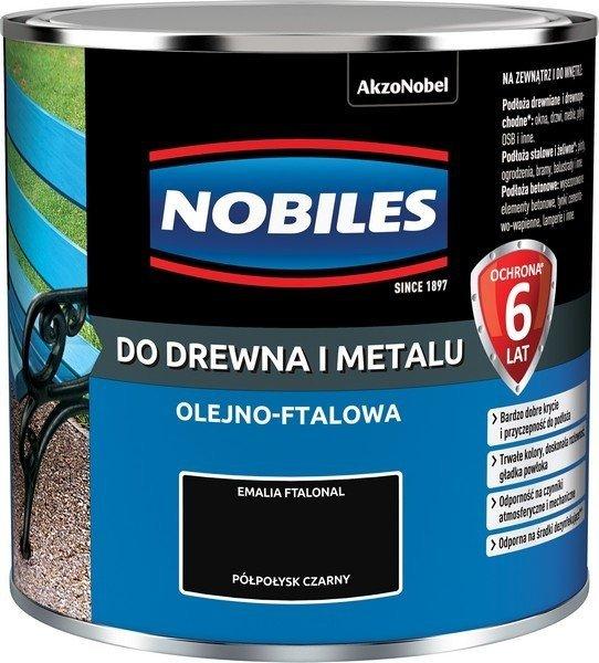 Nobiles olejna 0,25L CZARNY farba Ftalonal emalia czarna