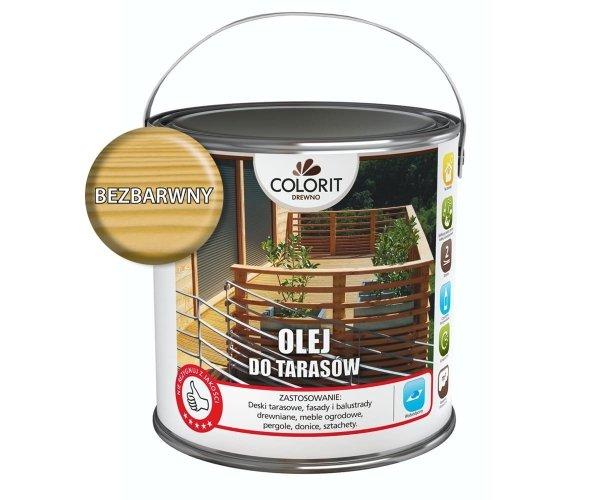 Colorit Olej Do Drewna Tarasów 5L BEZBARWNY Z UV