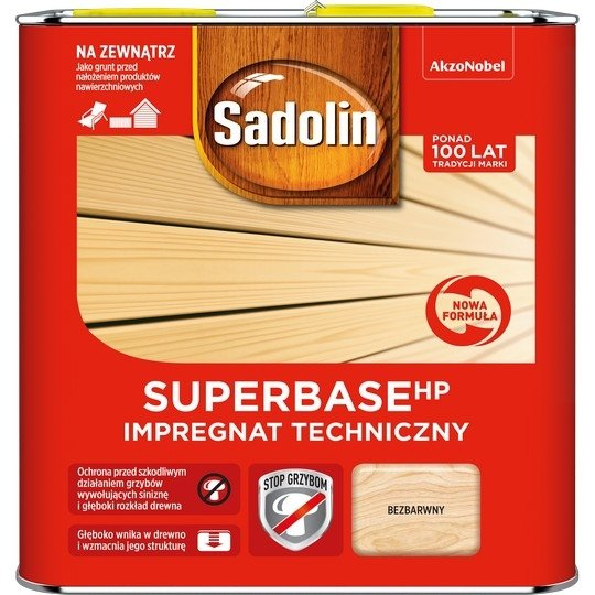 Sadolin SUPER-Base HP 2,5L impregnat techniczny drewna grunt
