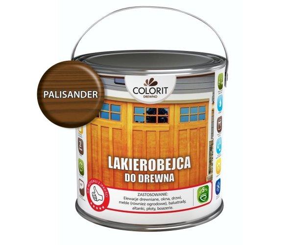Colorit Lakierobejca Drewna 2,5L PALISANDER szybkoschnąca satynowa farba do