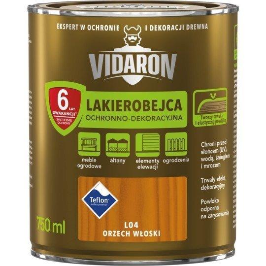 Vidaron Lakierobejca 0,75L L04 Orzech Włoski do drewna